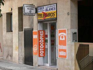 Internet cafe in Blanes
